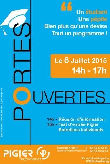 PIGIER Performance Strasbourg vous ouvre ses portes mercredi 8 juillet 2015 de 14h à 17h