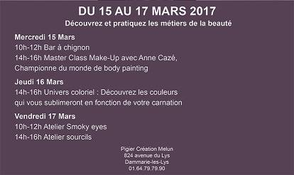La Semaine de Beauté - Pigier Création Melun du 15 au 17 mars 2017