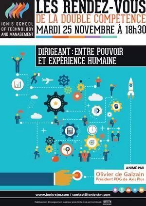 Conférence d'Olivier de Galzain :  « Dirigeant : entre pouvoir et expérience humaine »