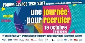 Forum Alsace Tech entreprises jeudi 19 octobre 2017