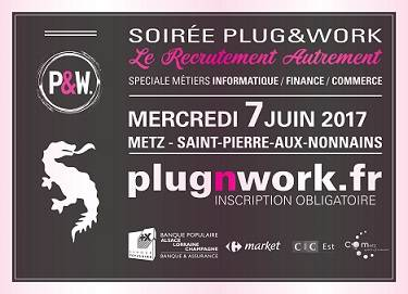 Soirée de recrutement Plug&Work, mercredi 7 juin 2017