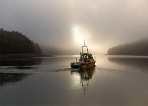 6 au 10 mars, les étudiants hydrographes et roboticiens ENSTA Bretagne finalisent l'exploration du lac de Guerlédan