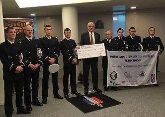 Les élèves militaires de l'ENSTA Bretagne soutiennent les blessés de guerre