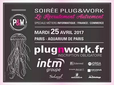 Soirée de recrutement Plug&Work le 25 avril 2017 à Paris